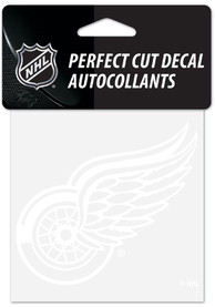 Detroit Red Wings Perfect Cut Auto Decal - White