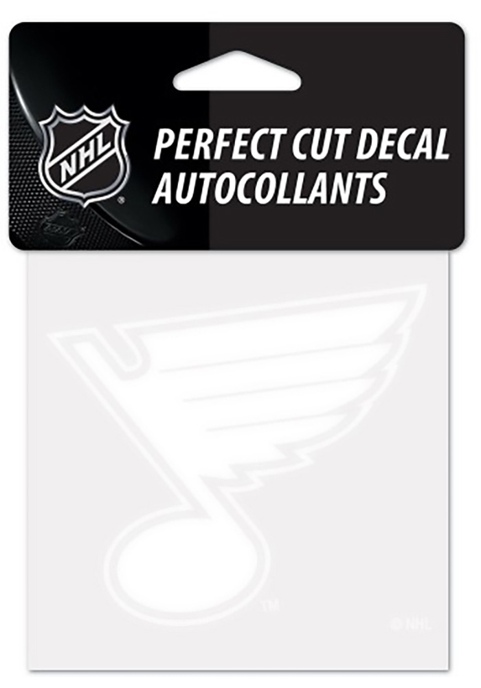 St Louis Blues Perfect Cut Auto Decal - White - Image 1