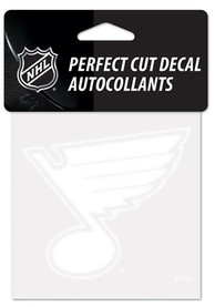 St Louis Blues Perfect Cut Auto Decal - White