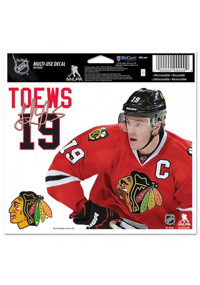 Chicago Blackhawks Multi Use Auto Decal - Red - Image 1