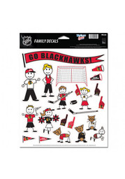 Chicago Blackhawks Family Pack Auto Decal - White
