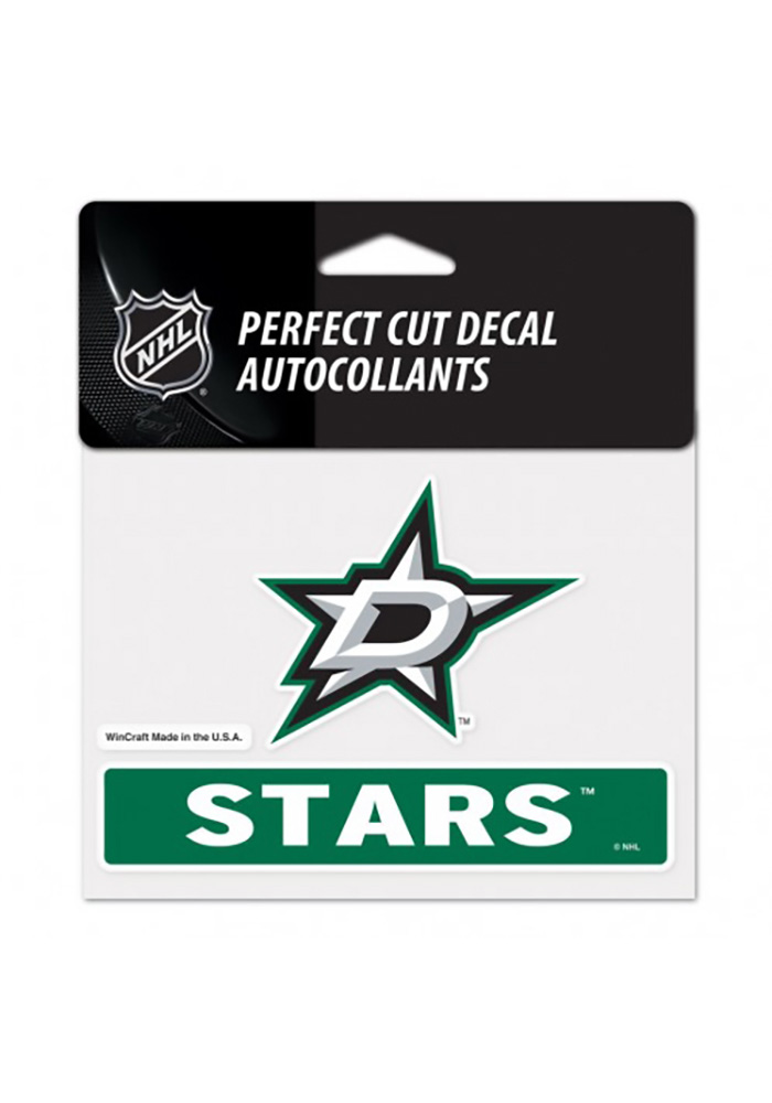Dallas Stars Team Name and Logo Auto Decal - Green - Image 1