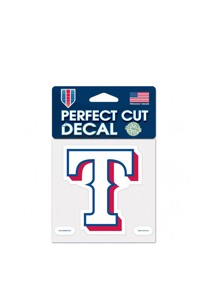 Texas Rangers 4x4 Perfect Cut Decal - Image 1