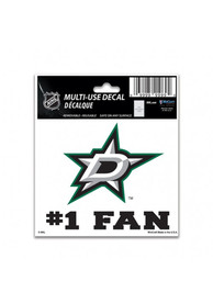 Dallas Stars Number 1 Auto Decal - Green