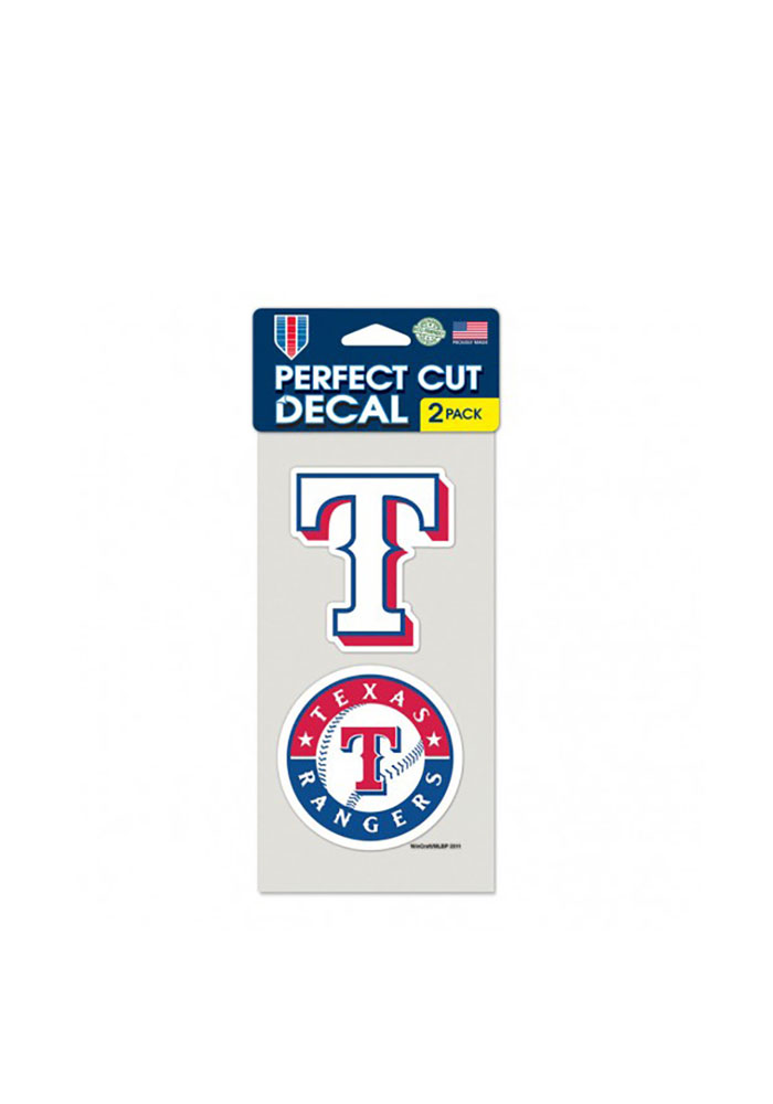 Texas Rangers 4x4 2 Pack Auto Decal - White - Image 1