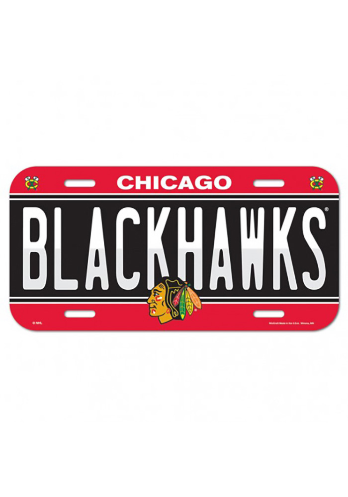 Chicago Blackhawks Team Name Car Accessory License Plate
