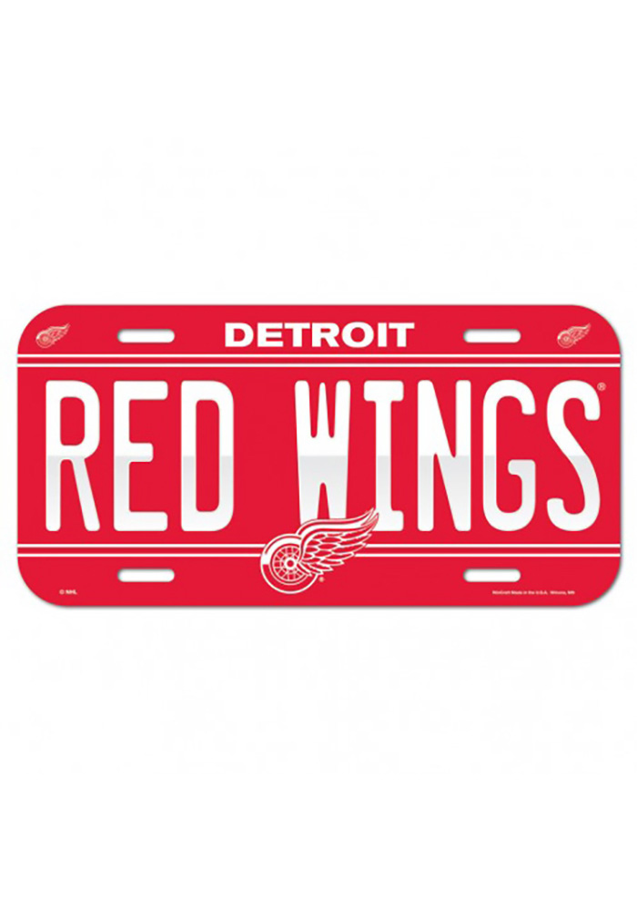 Detroit Red Wings Team Name Car Accessory License Plate - Image 1