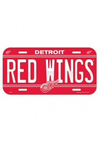 Detroit Red Wings Team Name Car Accessory License Plate