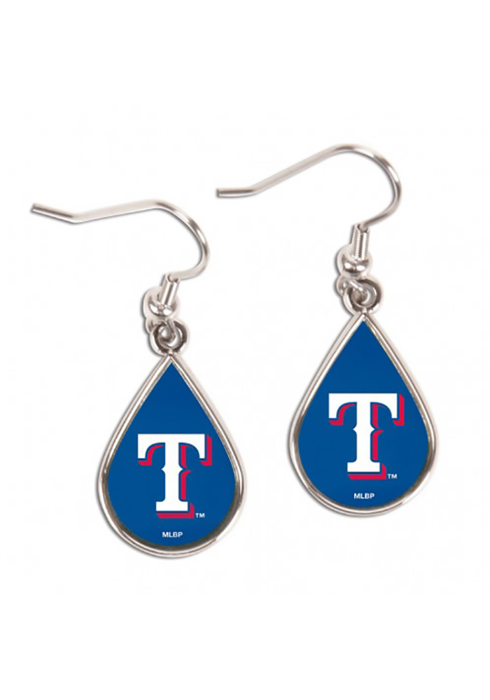 Texas Rangers Tear Drop Womens Earrings - Image 1