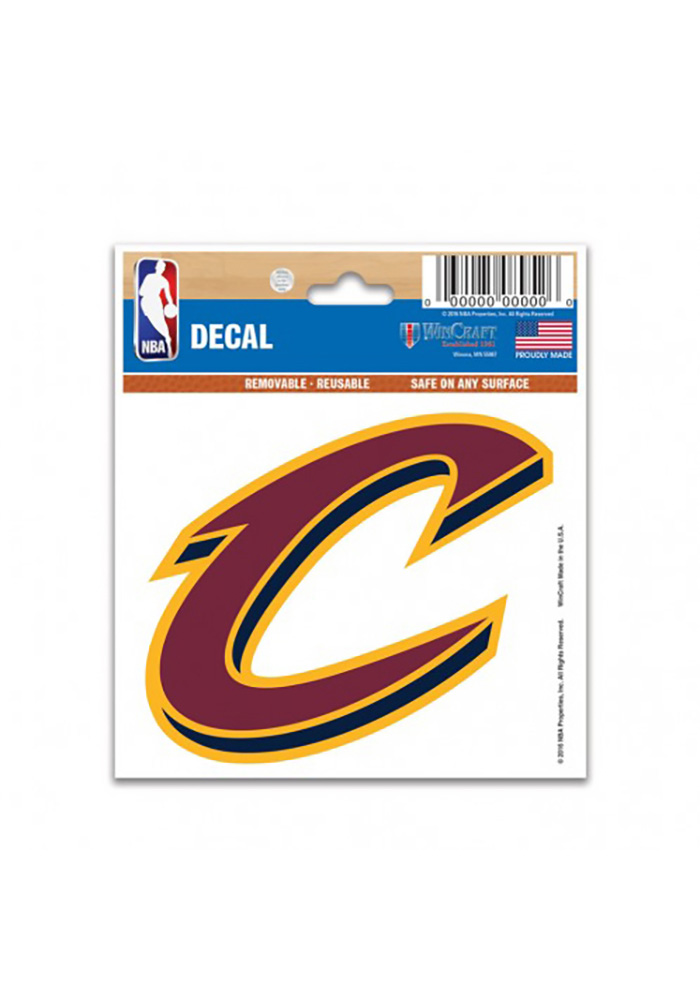 Cleveland Cavaliers 3x4 Team Logo Decal - Image 1