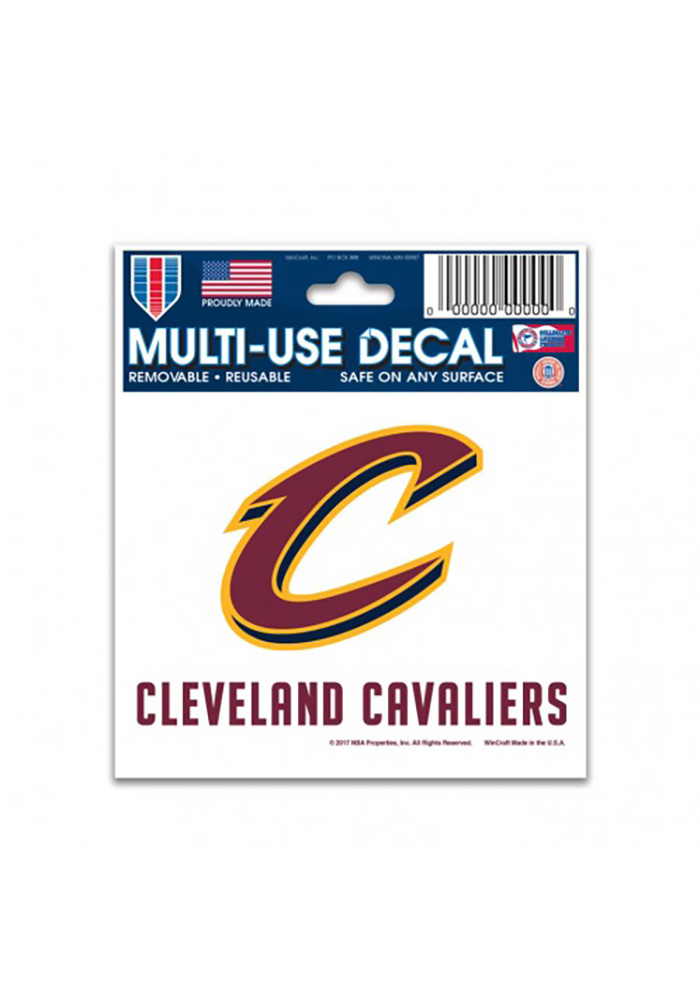 Cleveland Cavaliers 3x4 Team Logo with Team Name Decal - Image 1