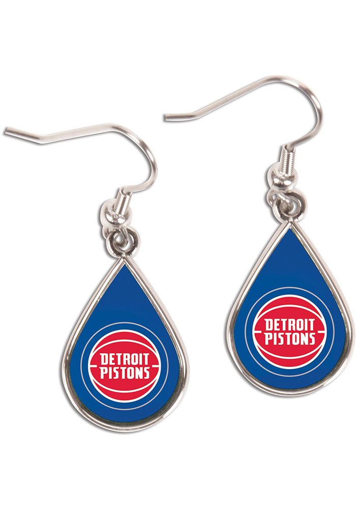 Detroit Pistons Tear Drop Womens Earrings - Image 1
