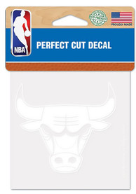 Chicago Bulls Perfect Cut Auto Decal - White