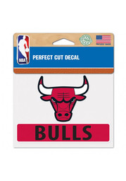 Chicago Bulls Perfect Cut Auto Decal - Red