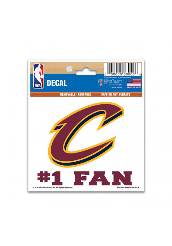 Cleveland Cavaliers Multi-Use Auto Decal - Red - Image 1