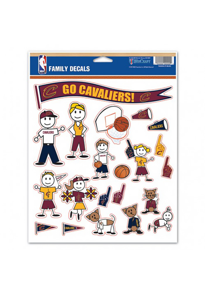 Cleveland Cavaliers Family Pack Decal - Image 1