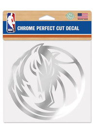 Dallas Mavericks Perfect Cut Auto Decal - Silver