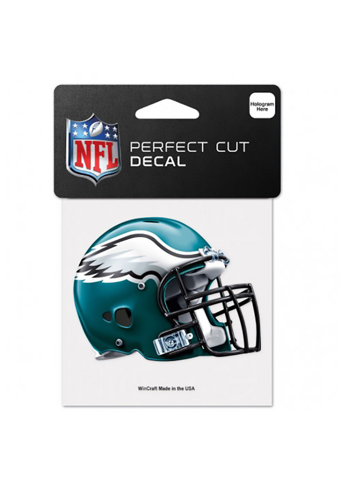 Philadelphia Eagles Perfect Cut 4X4 Auto Decal - Green - Image 1