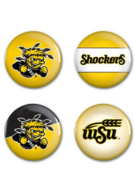 Wichita State Shockers 4 Pack 1.25 Inch Button