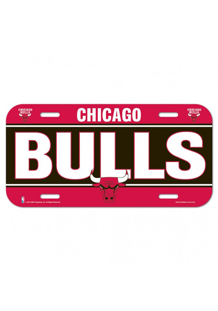 Chicago Bulls Team Name Car Accessory License Plate - Image 1