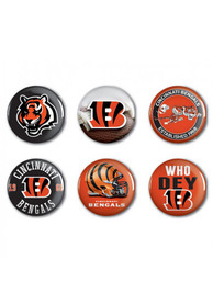 Cincinnati Bengals 6 pack of 2 Inch Button