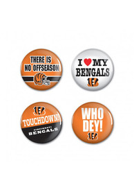 Cincinnati Bengals 4 Pack 1.25 Inch Button