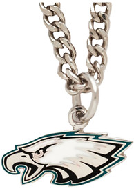 Philadelphia Eagles Womens Logo Necklace - Silver