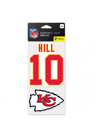 Tyreek Hill Kansas City Chiefs 4x4 2 Pack Auto Decal - Red