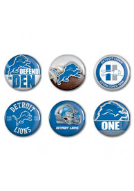 Detroit Lions 6 pack of 2 Inch Button