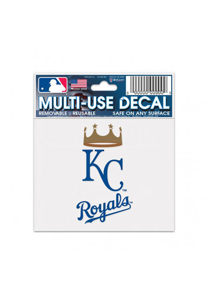 Kansas City Royals 3x4 Multi-Use Auto Decal - Blue - Image 1