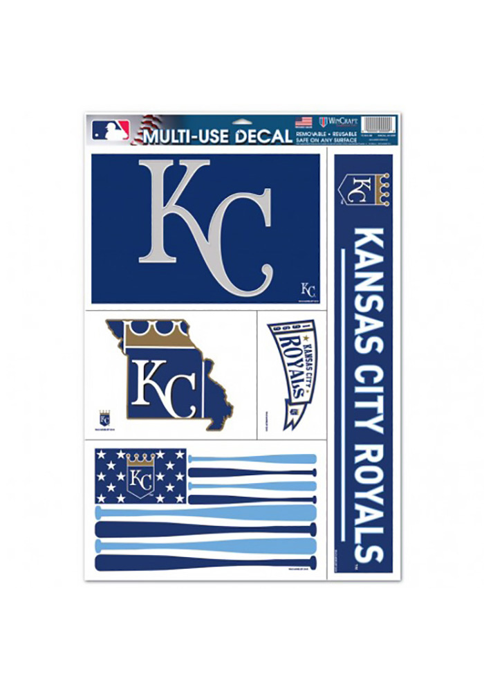 Kansas City Royals 11x17 Multi-Use Pack Auto Decal - Blue - Image 1
