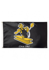 Pittsburgh Steelers Retro Black Silk Screen Grommet Flag