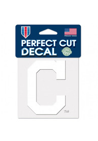 Cleveland Indians 4x4 inch Perfect Cut Auto Decal - White