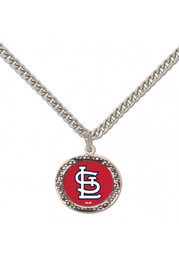 St Louis Cardinals Womens Hammered Necklace - Red