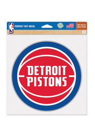 Detroit Pistons Perfect Cut Auto Decal - Red