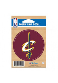 Cleveland Cavaliers Round Auto Decal - Maroon