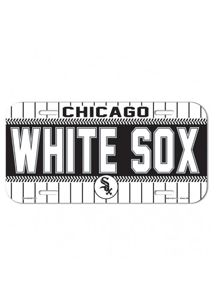 Chicago White Sox Plastic Car Accessory License Plate - Image 1