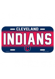 Cleveland Indians Plastic Car Accessory License Plate