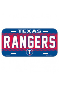 Texas Rangers Plastic Car Accessory License Plate