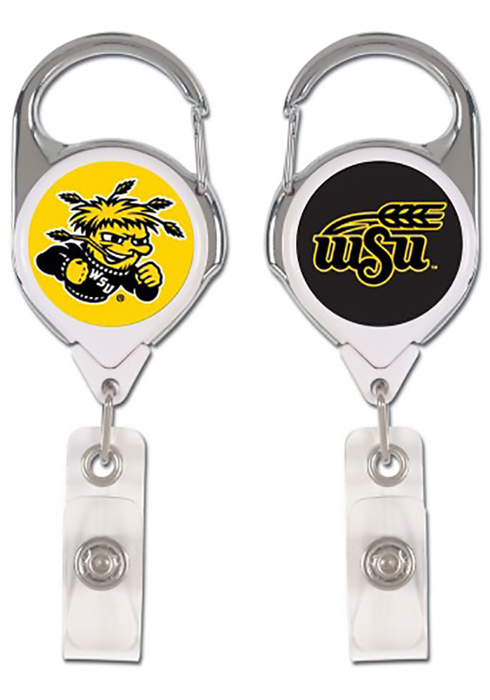 Wichita State Shockers Two-Sided Premium Retractable Badge Holder - Image 1