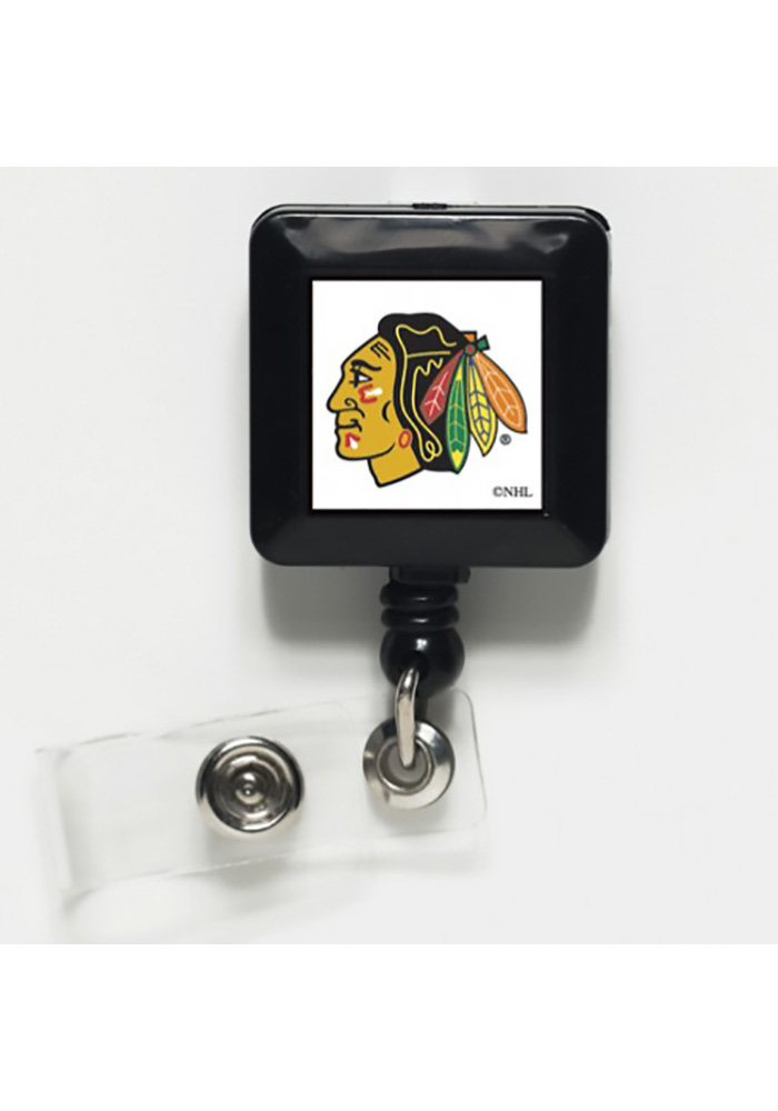 Chicago Blackhawks One-Sided Retractable Badge Holder - Image 1
