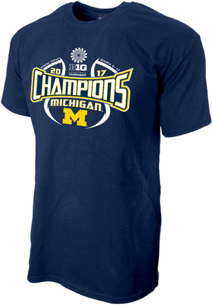Michigan Wolverines Mens Navy Blue 2017 Conference Tournament Champions Tee