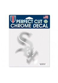Chicago White Sox 6x6 inch Auto Decal - Silver