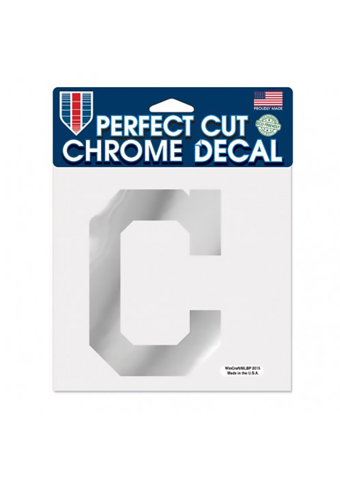 Cleveland Indians 6X6 Auto Decal - Red - Image 1