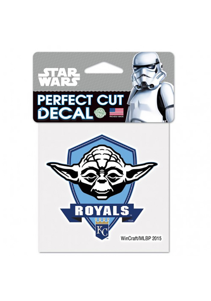 Kansas City Royals 4X4 Yoda Auto Decal - Blue - Image 1