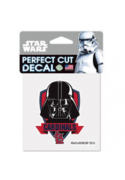 St Louis Cardinals 4X4 Darth Vader Auto Decal - Red