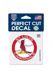 St Louis Cardinals 1966-1997 Perfect Cut Auto Decal - Red