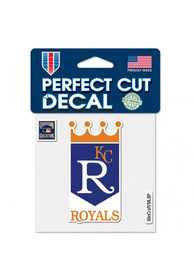 Kansas City Royals Cooperstown Perfect Cut Auto Decal - Blue