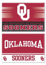 Oklahoma Sooners 2 Pack Rectangle Magnet