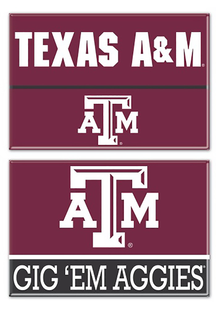 Texas A&M Aggies 2 Pack Rectangle Magnet